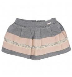 Falda para niña mayoral-gris