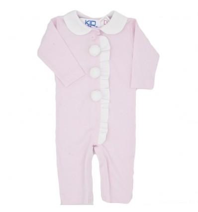Pijama para bebé niña enteriza-rosa