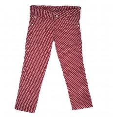 Pantalon para niña estampado-rojo