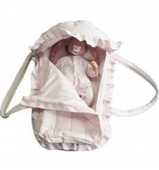 Nido abuelita para bebé-rosa