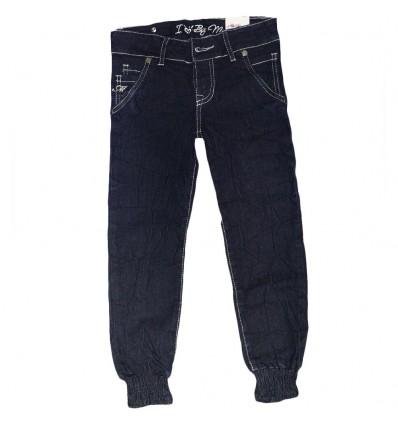 Jean para niña capri- azul oscuro