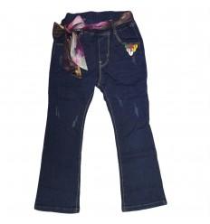 Jean para niña con cinta decorativa