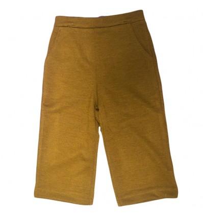 Pantalon cutter para niña-mostaza