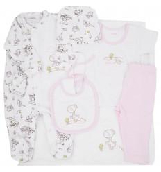 Primera muda para bebé niña-rosa