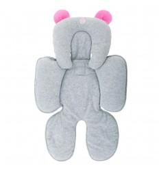 Protector cabeza y espalda- orejas rosa