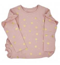 Buzo cuello redondo para niña-rosado