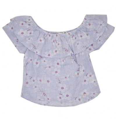 Blusa para niña estampada- azul
