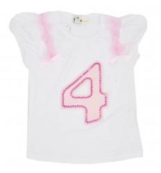 Camiseta para niña estampada-blanca