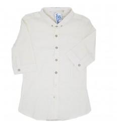 Camisa manga 3 cuatos- blanco hueso