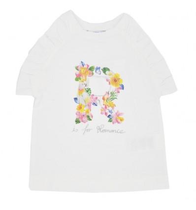 Camiseta manga sisa mayoral-blanca