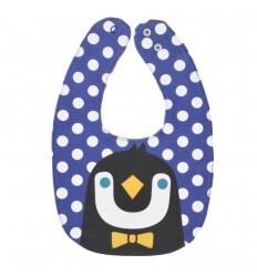 Babero soble faz-para bebé niño pinguino