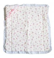 Cobertor doble faz para bebé-rosa