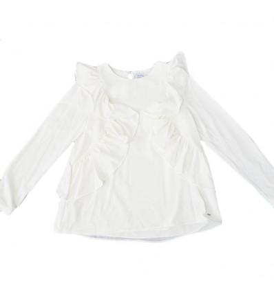 Blusa mayoral con volantes-blanca