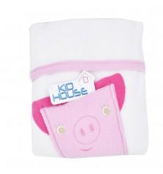 Cobertor lúdico con bolsillo-rosa