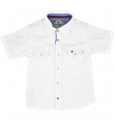 Camisa manga corta para niño-Blanca