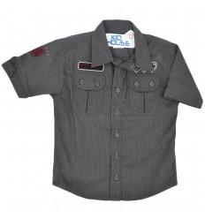 Camisa manga corta para niño- negra