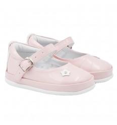 Zapatos no tuerce en trabilla-rosa