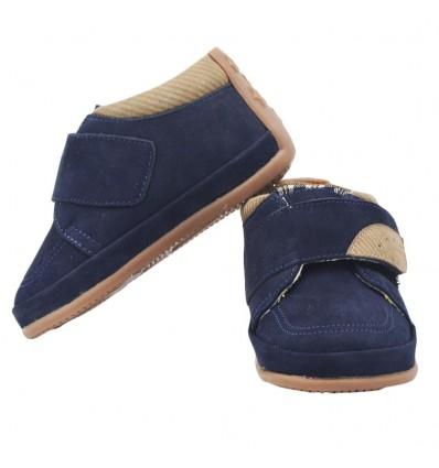 Zapato no tuerce nobuck- Azul