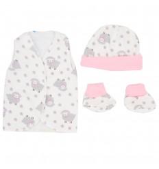 Set de ropa para bebé prematura-Ovejas