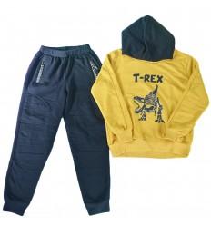 Sudadera 2 piezas para niño- Mostaza T-Rex