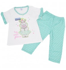 Pijama dos piezas para niña- Hipopotamo