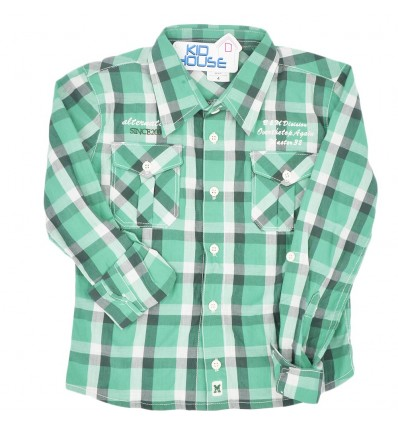 Camisa para niño a cuadros - verde