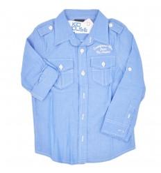 Camisa manga larga para niño- Azul