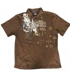 Camiseta polo para niño Cafe