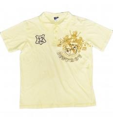 Camiseta tipo polo para niño- amarilla