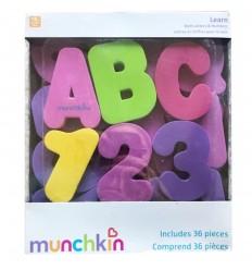 Letras y números para la bañera