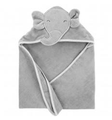 Toalla para bebé diseño elefante-gris