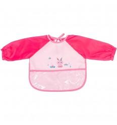 Babero delantal para bebes -rosa