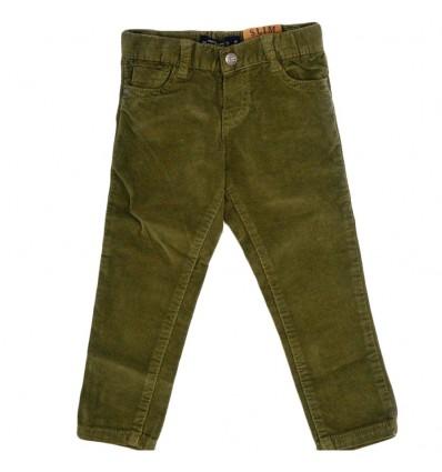 Pantalon en pana para niño -verde caza