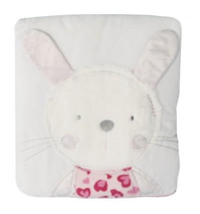Cobija para bebé coneja Rosa