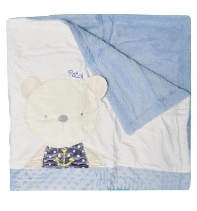 Cobija para bebé oso Azul