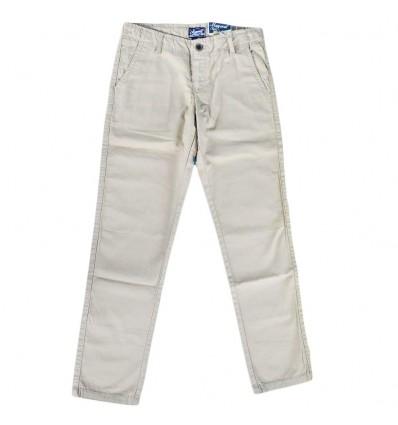 Pantalon en dril para niño - Canela