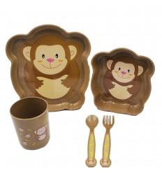Set de loza para niños - Cafe de micos