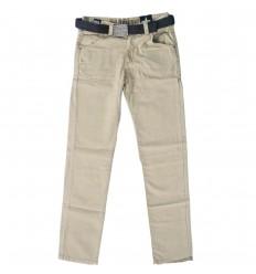 Pantalon en dril para niño- Beige