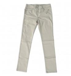 Pantalon dril para niña- Beige