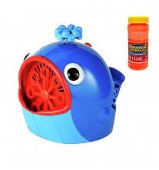 Maquina de hacr burbujas de ballena- azul