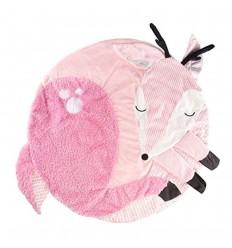 Tapete de actividades táctil para bebé-Rosa