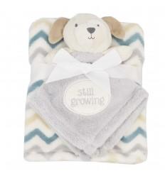 Cobertor con muñeco de apego de perrito
