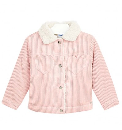 Cazadora pana para niña- Colorete (rosado)
