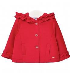 Chaqueta con capota para bebé- Rojo
