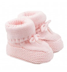 Patin en hilo para bebé niña rosa