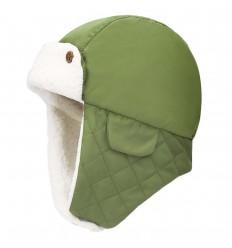 Gorro aviador para bebé niño- Verde olivo