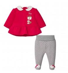 Conjunto para bebé niña- Velvet Rojo