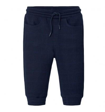 Pantalon jogger a cuadros- Azul oscuro