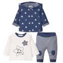 Sudadera 3 piezas para bebé niño-Azul estrellas