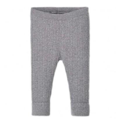 Leggings tejido para bebé niña Plata